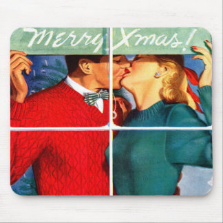 Kissing Christmas Mouse Pad