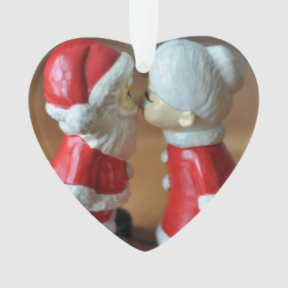 Kissing Clauses with totally customizable text Ornament