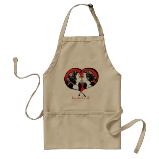 Kissing Couple - both surprised Standard Apron