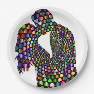 KISSING COUPLE PAPER PLATE
