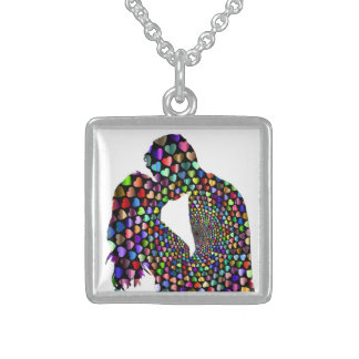 KISSING COUPLE STERLING SILVER NECKLACE