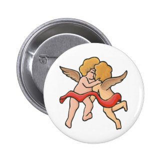 Kissing Cupids 2 Inch Round Button