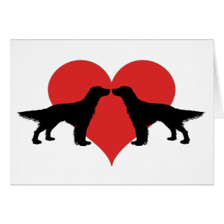 Kissing dogs card
