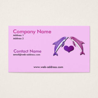 Kissing Dolphins Business Card