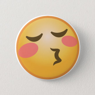 Kissing Emoji 2 Inch Round Button