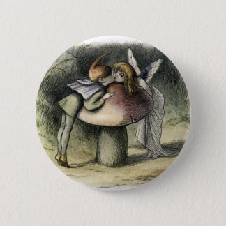 Kissing Faerie and Pixie 2 Inch Round Button