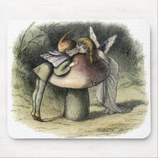 Kissing Faerie and Pixie Mousepad