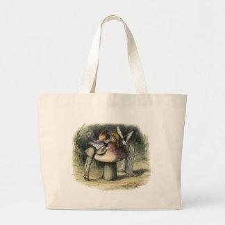 Kissing Faerie and Pixie Tote Jumbo Tote Bag