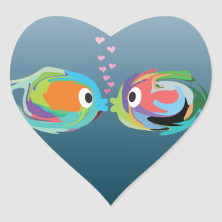 Kissing Fish sticker