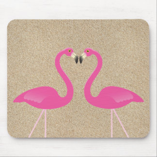 Kissing Flamingos Mousepad