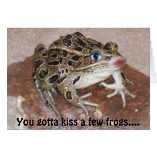 Kissing Frog card