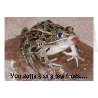 Kissing Frog card
