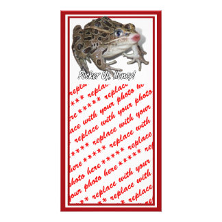 Kissing Frog - Pucker Up, Honey! Photo Card Template