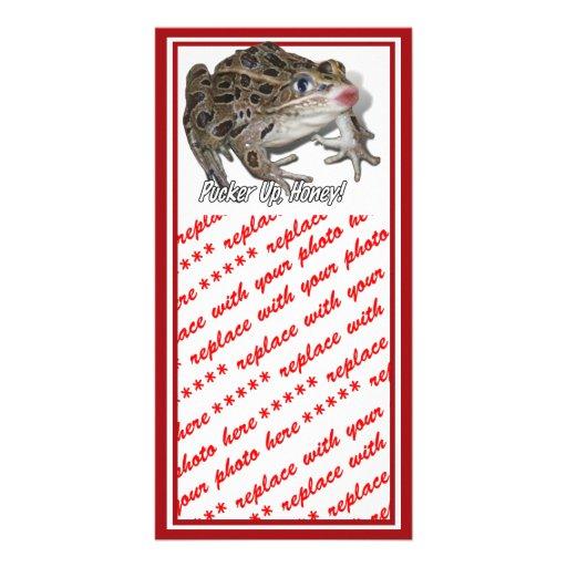 Kissing Frog - Pucker Up, Honey! Photo Greeting Card