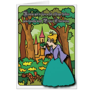 Kissing Frogs Greeting Card