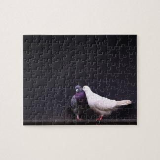 Kissing Love Birds Jigsaw Puzzle