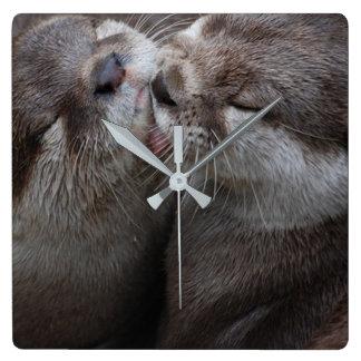Kissing Otter Clock