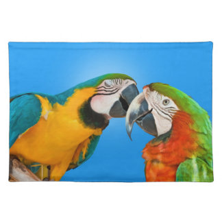 Kissing Parrots Placemats