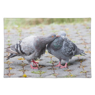 Kissing pigeons placemat