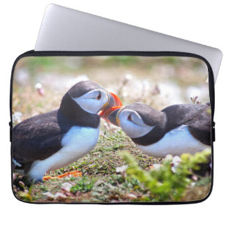 Kissing Puffins Laptop Sleeve