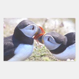 Kissing Puffins Sticker
