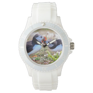 Kissing Puffins Watch
