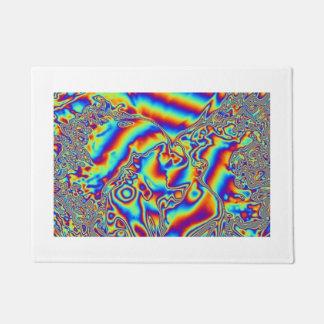 kissing rainbow doormat
