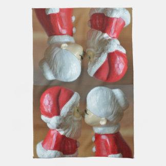 Kissing Santas Kitchen Towel
