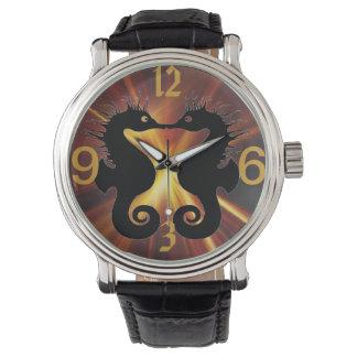 Kissing Seahorses custom watches