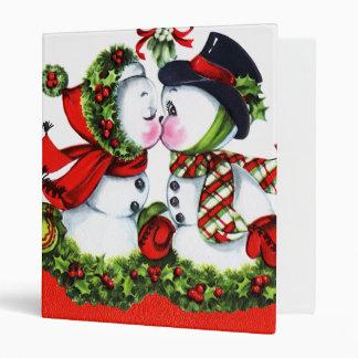 Kissing Snowman Couple Binders