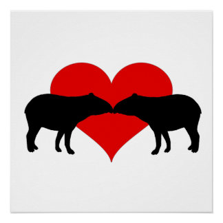 Kissing Tapirs Perfect Poster