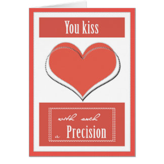 Kissing with Precision Card