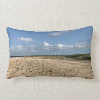 Kissings with wind mills prints lumbar pillow