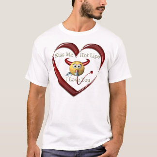 kissme hoplip heart T-Shirt