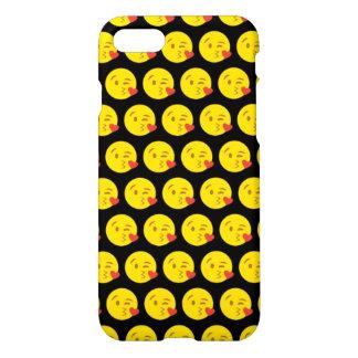 Kissy Face Emoji iPhone 7 Glossy Case