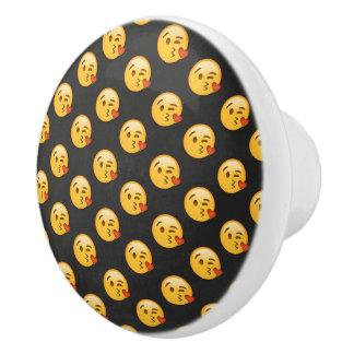 Kissy Face Love Emoji Ceramic Knob