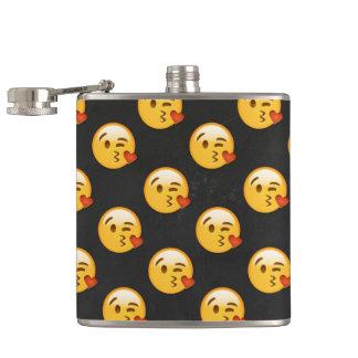 Kissy Face Love Emoji Hip Flask