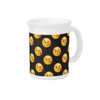Kissy Face Love Emoji Pitcher