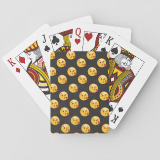 Kissy Face Love Emoji Playing Cards