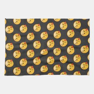 Kissy Face Love Emoji Towels