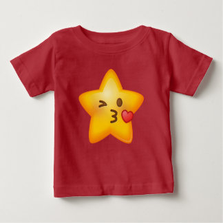 Kissy Face Star Emoji Baby T-Shirt