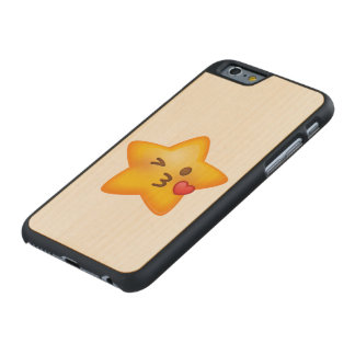 Kissy Face Star Emoji Carved® Maple iPhone 6 Case