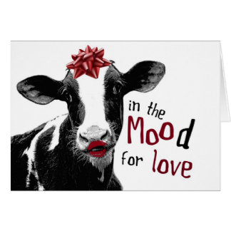 Kissy Lips Cow in the MOOd for Love Card