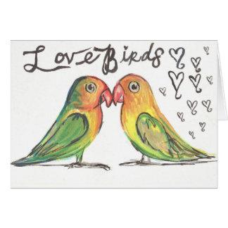 Kissy LoveBirds Card