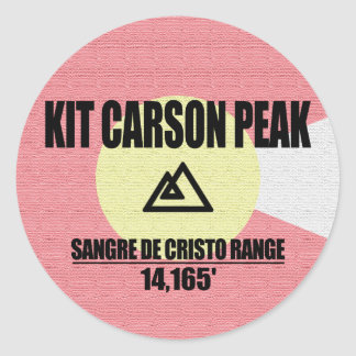 Kit Carson Peak Classic Round Sticker