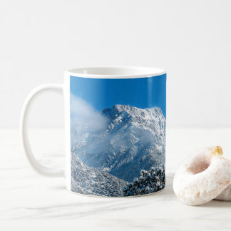 Kit Carson Peak covered in snow. Coffee Mug