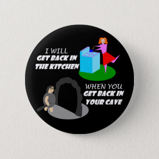 Kitchen and Cave 2 Inch Round Button
