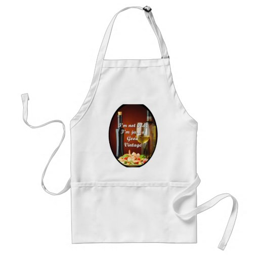 Kitchen Apron for Baby Boomers Wine Lovers