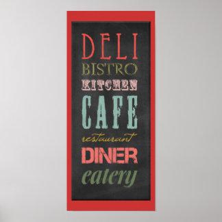kitchen-chalkboard KITCHEN RESTAURANT DELI CAFE BI Poster
