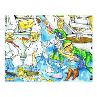 Kitchen Chaos Postcards